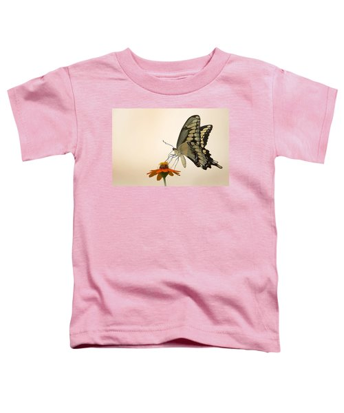 Butterfly And Flower Toddler T-Shirt