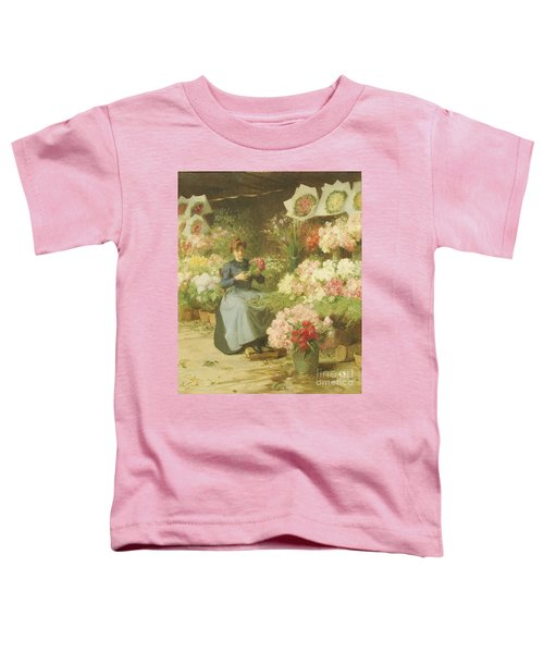 Flower Seller In Front Of The Madeleine Church Toddler T-Shirt