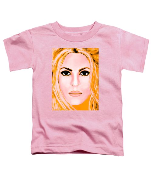 Gold Shakira Toddler T-Shirt by Mathieu Lalonde