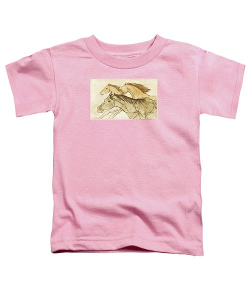 Toddler T-Shirt featuring the drawing Horse Sketch by Nareeta Martin