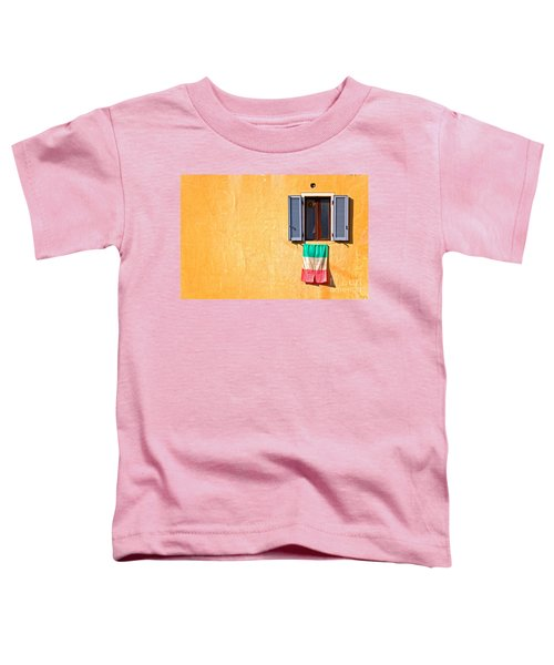 Italian Flag Window And Yellow Wall Toddler T-Shirt by Silvia Ganora