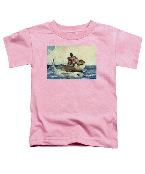 Shark Fishing Toddler T-Shirt