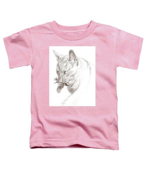 Cat And Chickadee Toddler T-Shirt