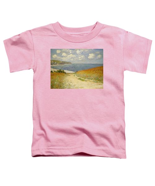 Path In The Wheat At Pourville Toddler T-Shirt