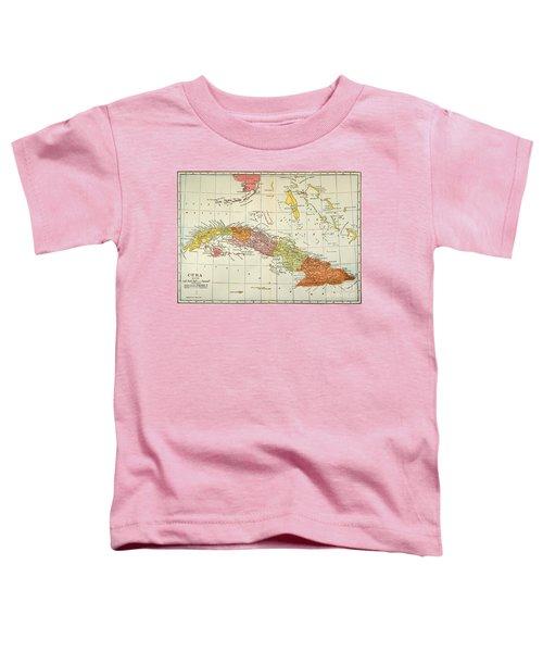 Map: Cuba, 1900 Toddler T-Shirt
