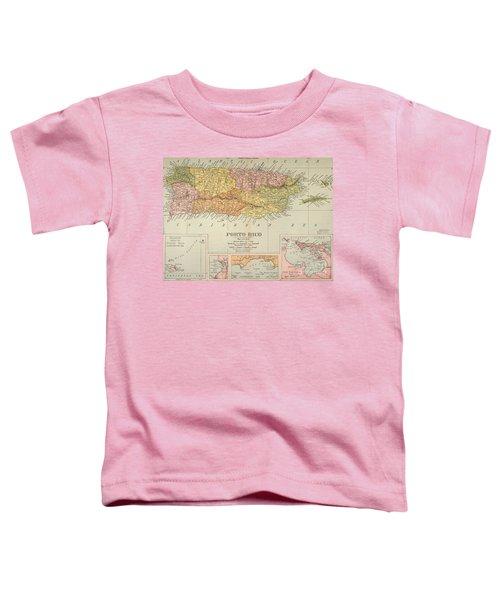 Map: Puerto Rico, 1900 Toddler T-Shirt
