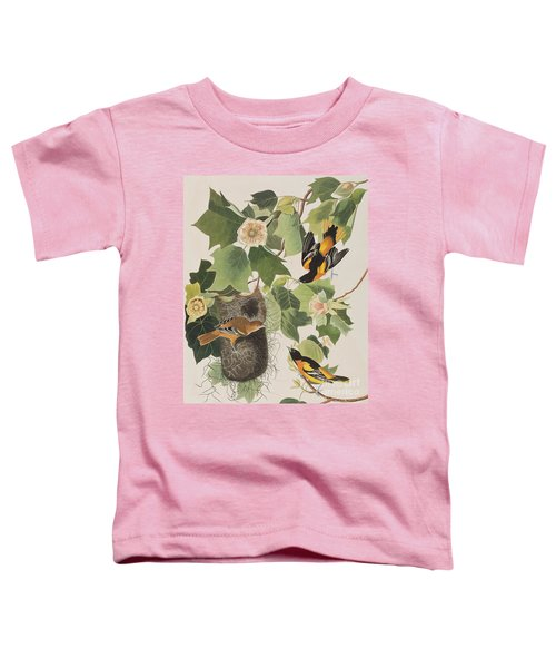 Baltimore Oriole Toddler T-Shirt by John James Audubon
