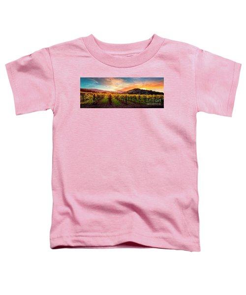 Morning Sun Over The Vineyard Toddler T-Shirt