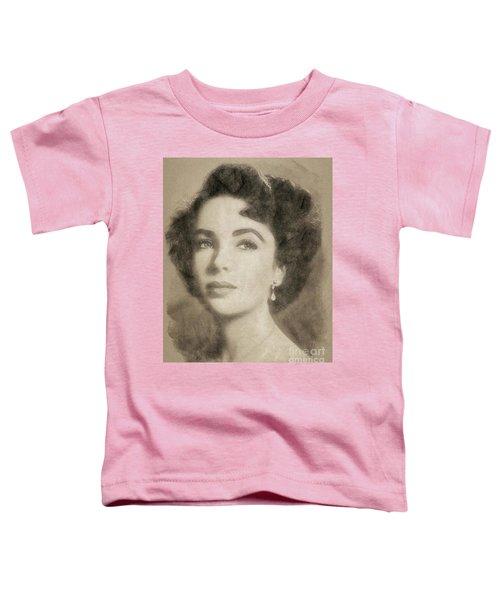 Elizabeth Taylor Hollywood Actress Toddler T-Shirt by John Springfield