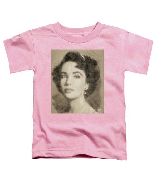 Elizabeth Taylor, Vintage Hollywood Legend By John Springfield Toddler T-Shirt by John Springfield