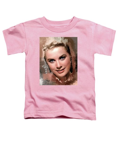 Grace Kelly, Vintage Hollywood Actress Toddler T-Shirt by Mary Bassett