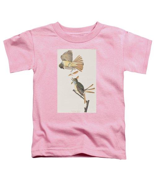 Great Crested Flycatcher Toddler T-Shirt by John James Audubon