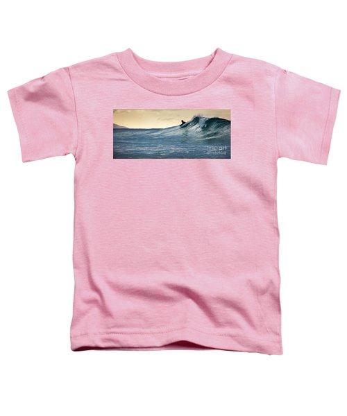 Hawaii Bodysurfing Sunset Polihali Beach Kauai  Toddler T-Shirt
