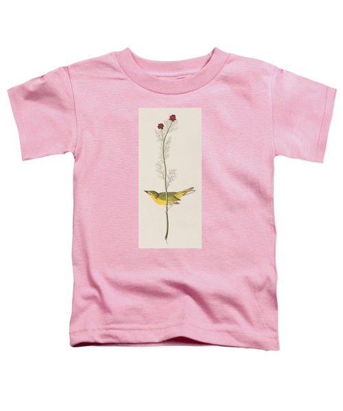 Hooded Warbler Toddler T-Shirt by John James Audubon