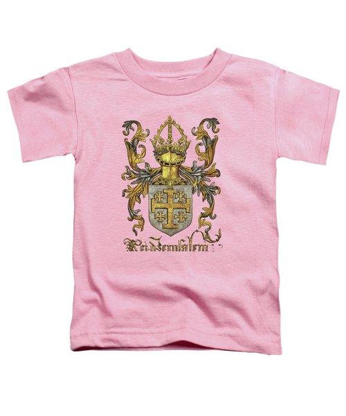 Kingdom Of Jerusalem Coat Of Arms - Livro Do Armeiro-mor Toddler T-Shirt by Serge Averbukh