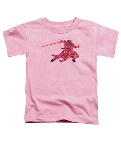Kylo Ren - Star Wars Art - Red Toddler T-Shirt