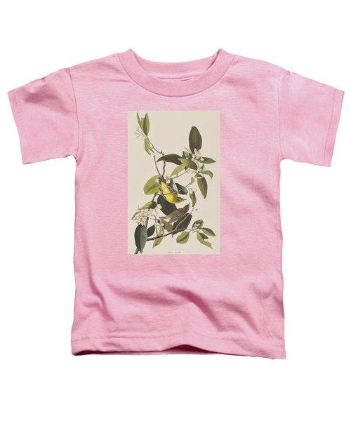 Palm Warbler Toddler T-Shirt by John James Audubon