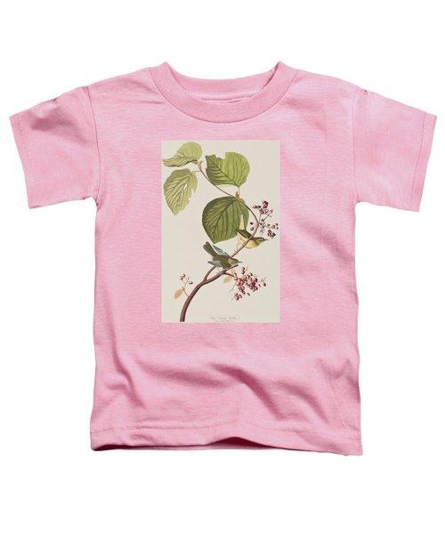 Pine Swamp Warbler Toddler T-Shirt by John James Audubon