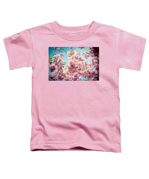 Pink Cherry Blossoms Sakura Toddler T-Shirt