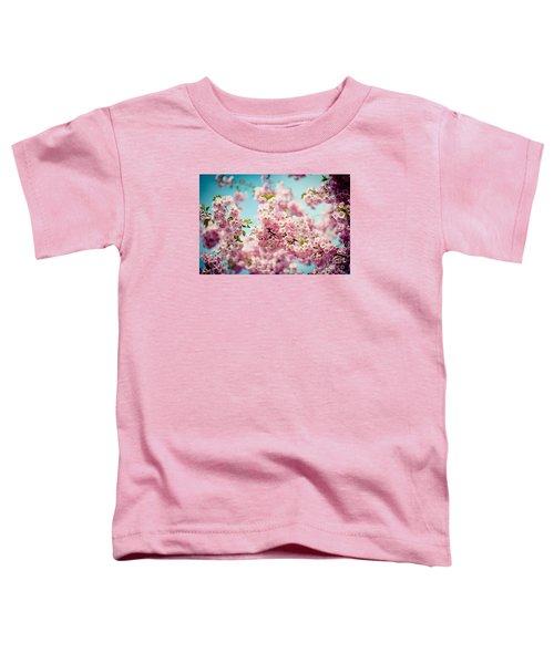 Pink Cherry Blossoms Sakura Toddler T-Shirt