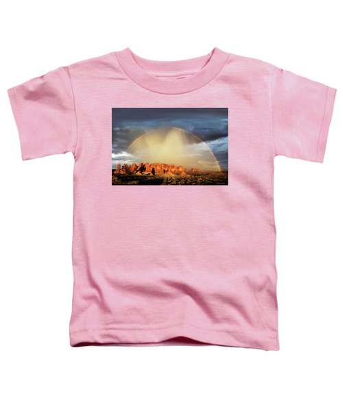 Rainbow Over Garden Of Eden Toddler T-Shirt