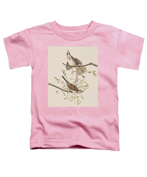 Song Sparrow Toddler T-Shirt by John James Audubon