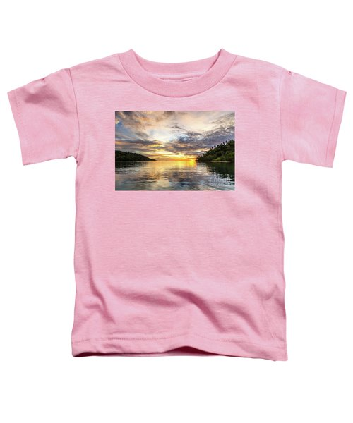 Stunning Sunset In The Togian Islands In Sulawesi Toddler T-Shirt