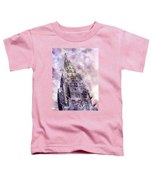 The Chrysler Building Toddler T-Shirt by Jon Neidert
