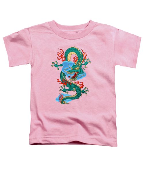 The Great Dragon Spirits - Turquoise Dragon On Rice Paper Toddler T-Shirt