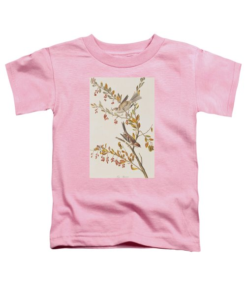 Tree Sparrow Toddler T-Shirt by John James Audubon