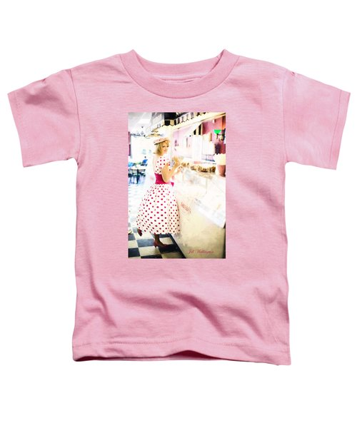 Vintage Val Ice Cream Parlor Toddler T-Shirt