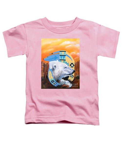 White Bear Goes Southwest Toddler T-Shirt