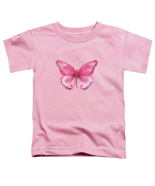 107 Pink Genus Butterfly Toddler T-Shirt