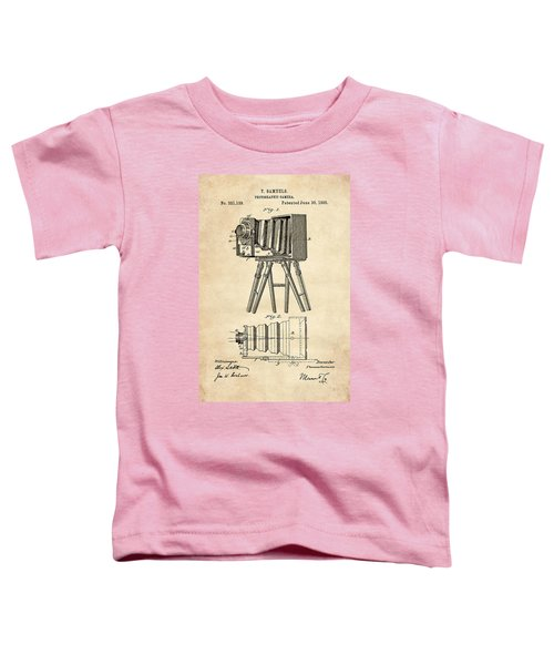 1885 Camera Us Patent Invention Drawing - Vintage Tan Toddler T-Shirt