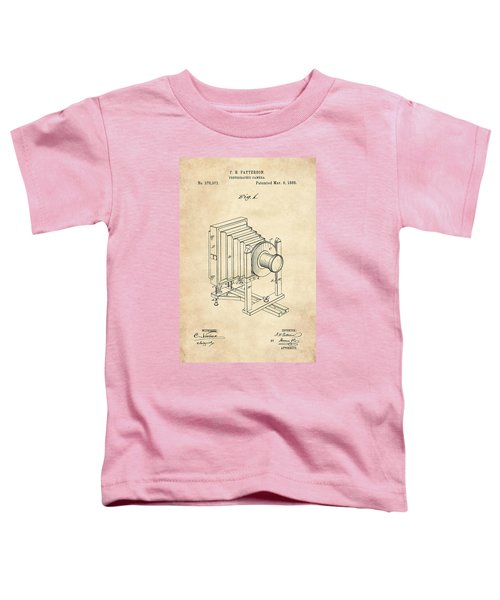 1888 Camera Us Patent Invention Drawing - Vintage Tan Toddler T-Shirt