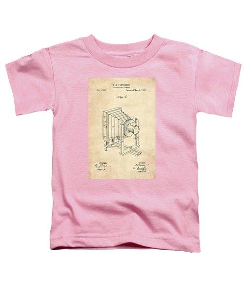 1888 Camera Us Patent Invention Drawing - Vintage Tan Toddler T-Shirt