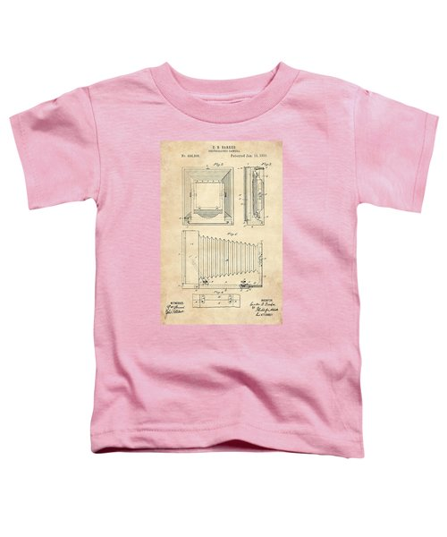 1891 Camera Us Patent Invention Drawing - Vintage Tan Toddler T-Shirt