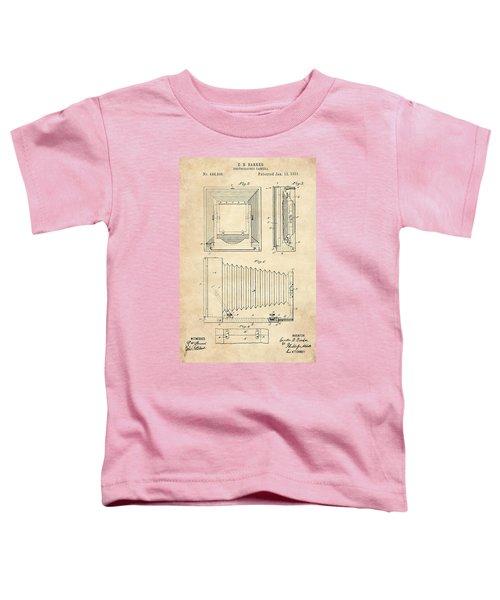 1891 Camera Us Patent Invention Drawing - Vintage Tan Toddler T-Shirt