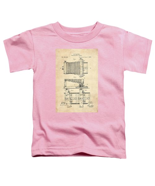 1897 Camera Us Patent Invention Drawing - Vintage Tan Toddler T-Shirt