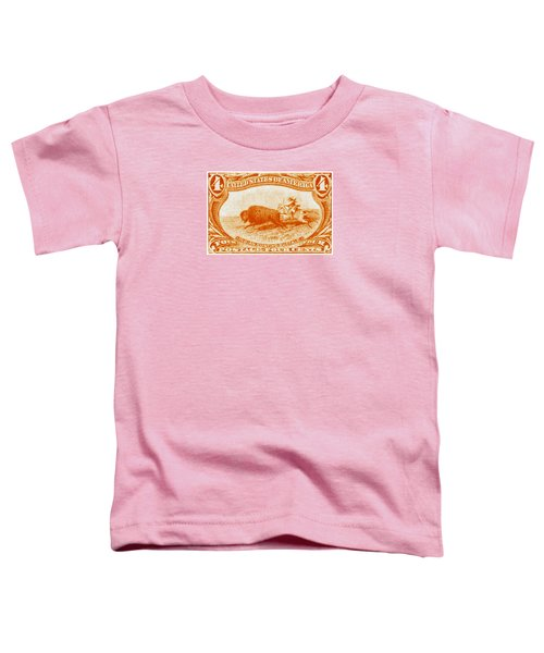 1898 Indian Hunting Buffalo Toddler T-Shirt by Historic Image