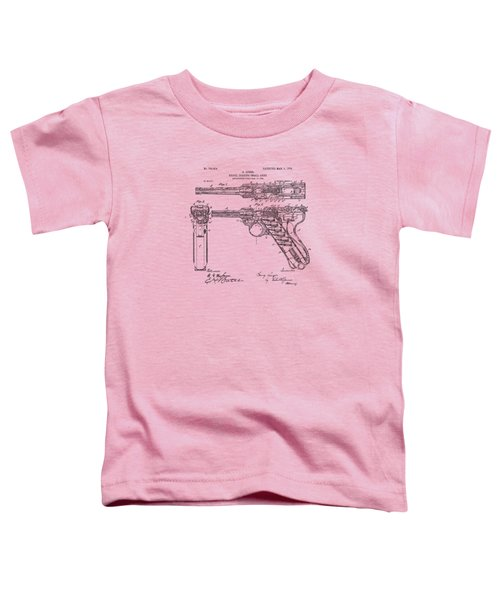 1904 Luger Recoil Loading Small Arms Patent - Vintage Toddler T-Shirt