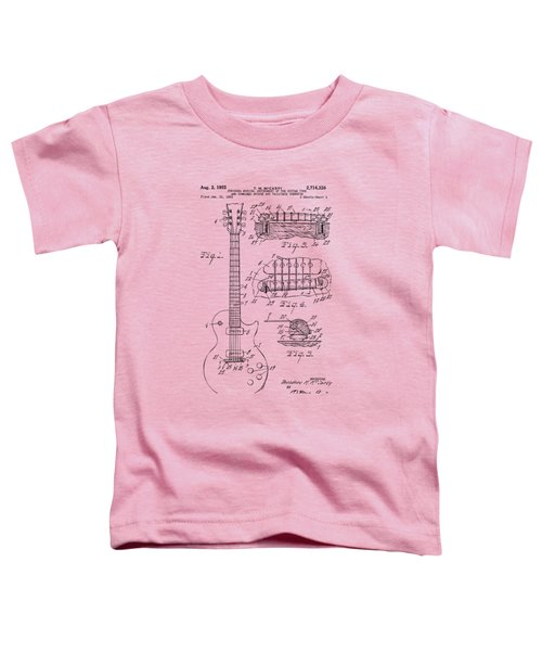 1955 Mccarty Gibson Les Paul Guitar Patent Artwork Vintage Toddler T-Shirt by Nikki Marie Smith
