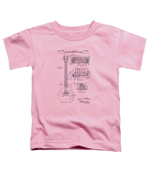 1955 Mccarty Gibson Les Paul Guitar Patent Artwork Vintage Toddler T-Shirt
