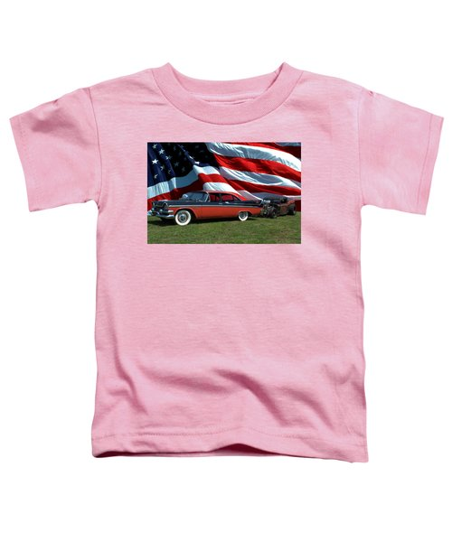 1958 Dodge Coronet And 1935 International Dragster Toddler T-Shirt