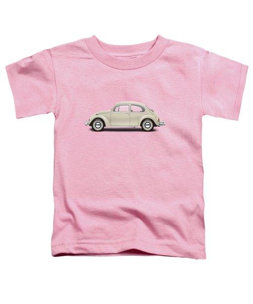 1965 Volkswagen 1200 Deluxe Sedan - Panama Beige Toddler T-Shirt by Ed Jackson