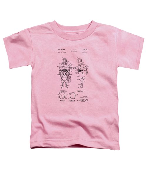 1968 Hard Space Suit Patent Artwork - Vintage Toddler T-Shirt by Nikki Marie Smith