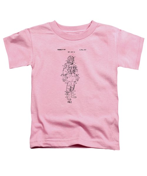 1973 Astronaut Space Suit Patent Artwork - Vintage Toddler T-Shirt