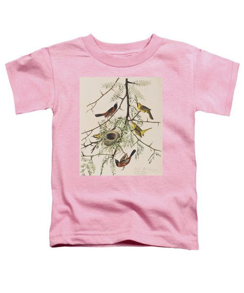 Orchard Oriole Toddler T-Shirt by John James Audubon