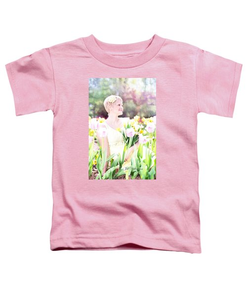 Vintage Val Spring Tulips Toddler T-Shirt