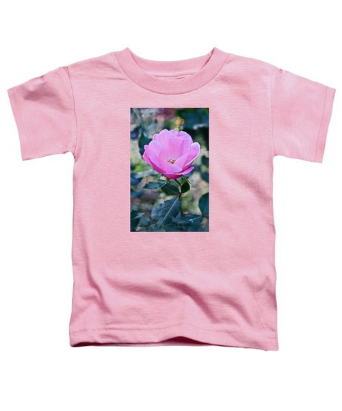 2015 After The Frost At The Garden Pink  Rose Toddler T-Shirt